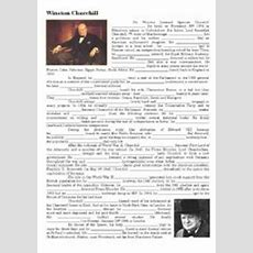 English Worksheet Winston Churchill Biography