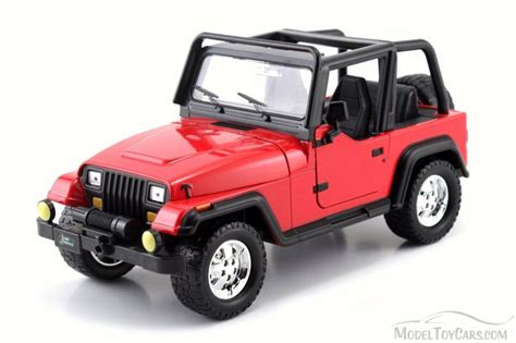 red toy jeep 1992 jeep wrangler red jada 98081wa 1 24 scale