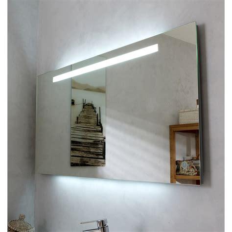 applique murale avec interrupteur cuisine miroir lumineux eclairage intégré l 120 x h 60 cm atria