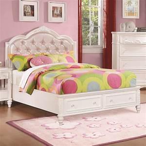 Caroline, Twin, Size, Storage, Bed, With, Diamond, Tufted