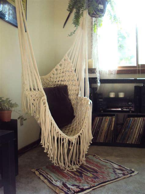 hippy hammock macrame chair 160 00 via etsy i