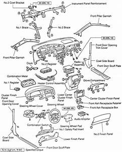 2000 Toyota Sienna Instrument Panel Lights