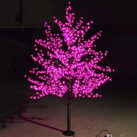outdoor led trees outdoor waterproof artificial 1 5m led cherry blossom tree l 480leds tree light for