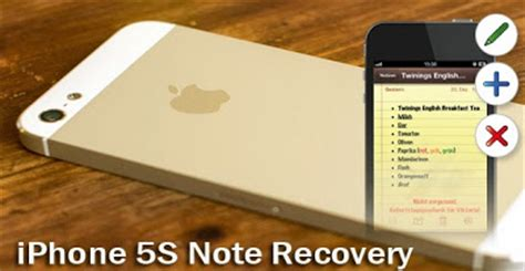 iphone notes recovery iphone 5s data recovery lost notes on iphone 5s