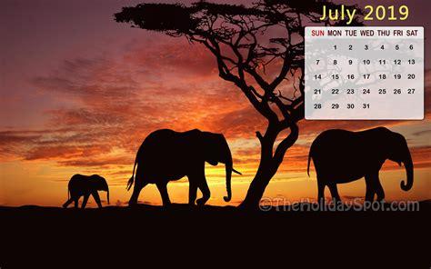 July 2019 Calendar Wallpapers - Wallpaper Cave