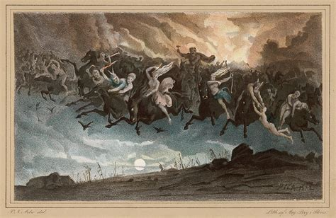 Asgardsreien, Norwegian Myth Drawing by Mary Evans Picture ...