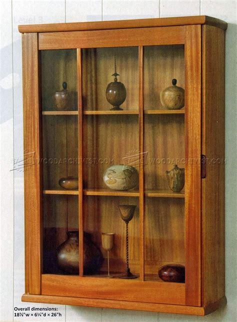 wall display cabinet plans woodarchivist