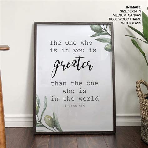 Remind him what he means to you with these gift ideas for your boyfriend. Bible Verse Wall Art Home Decor Boyfriend gift Olive ...