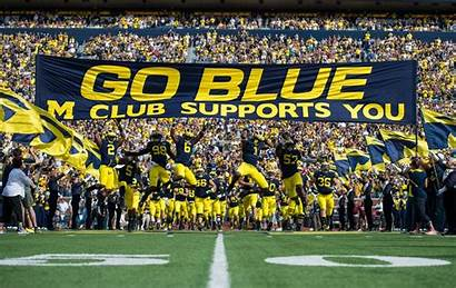 Football Michigan Umich Season Field Diag Second