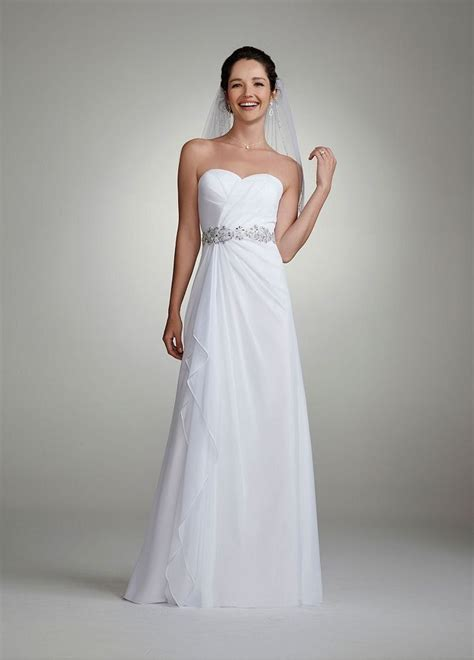 amazon com david s bridal wedding dress chiffon gown
