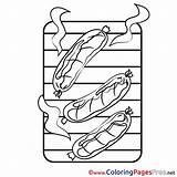 Sausage Colouring Printable Coloring Sheet Title Sheets sketch template