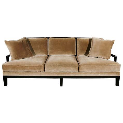 canapé christian liaigre christian liaigre sofa upholstered in silk velvet at 1stdibs