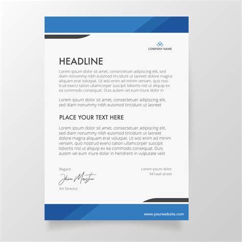 vector letterhead template  blue colors