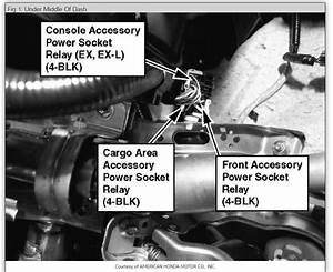 Fuse Panel  On A 2007 Honda Cr