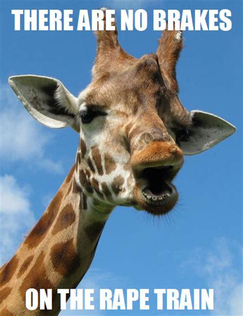 Drunk Giraffe Meme - rape train giraffe the rape train know your meme