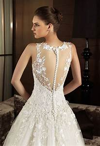 vintage lace wedding dresses with open back sang maestro With lace back wedding dresses