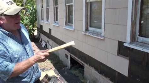 remove asbestos siding secrets  water table
