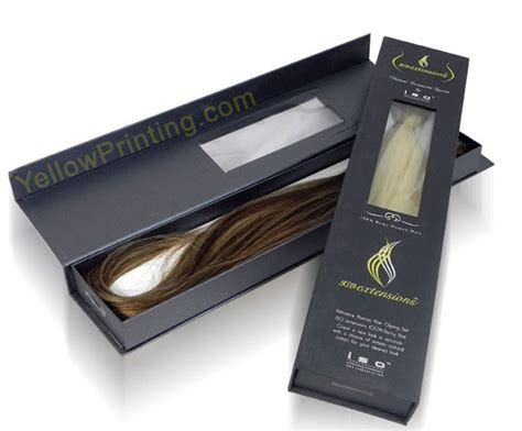 hair extensions packaging box yellow printing printing company in china