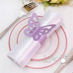wedding paper butterfly napkin rings anniversray party With paper napkin rings for wedding