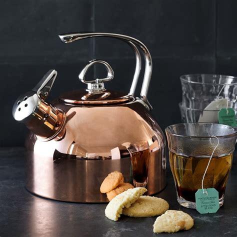 chantal copper whistling tea kettle copper williams sonoma