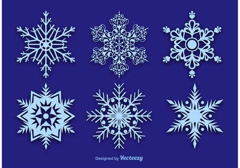 snowflake vector decorations   vectors