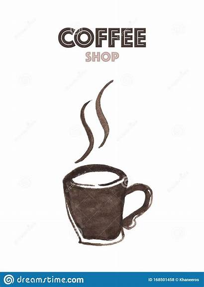 Coffee Concept Watercolor Abstract