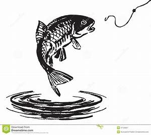 Fish Jumping Out Of The Water Stock Vector - Image: 47125857