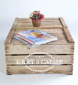 L Art De La Caisse : 25 ways of reusing old wooden crates in your interior ~ Carolinahurricanesstore.com Idées de Décoration
