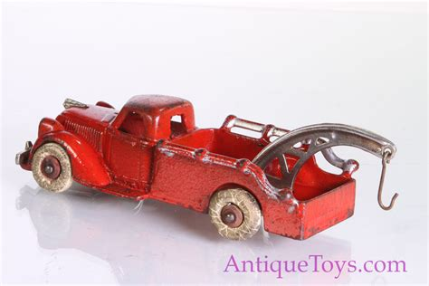 hubley cast iron tow truck  red  chrome  sale