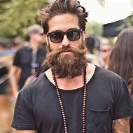 Hipster Man with Beards