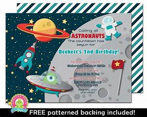 Space Birthday Invitation Outer Space by ForeverYourPrints