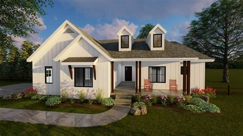 One Story Farmhouse Plans by 1 Story Modern Farmhouse House Plan Copperden