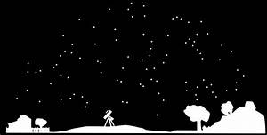 Night Sky clipart black and white - Pencil and in color ...