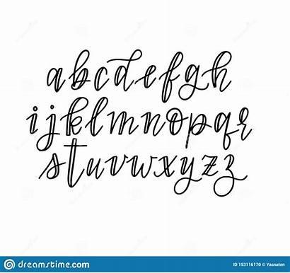 Drawn Alphabet Faux Lowercase Calligraphy Het Journaling