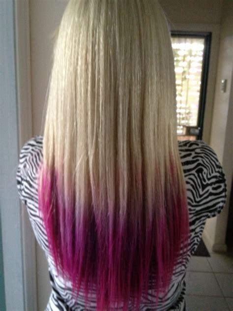Hair Pink Purple Hair Pink Hair Blond Hair Dip Dye Hair