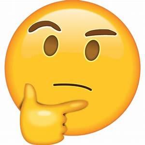 Download Thinking Emoji Icon in PNG | Emoji Island