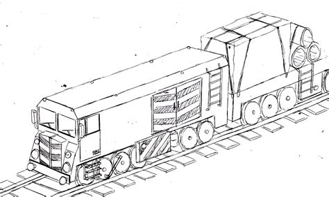 Freight Train Drawings