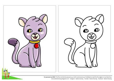 Look at links below to get more options for getting and using clip art. Contoh Gambar Lembar Mewarnai Kucing - KataUcap