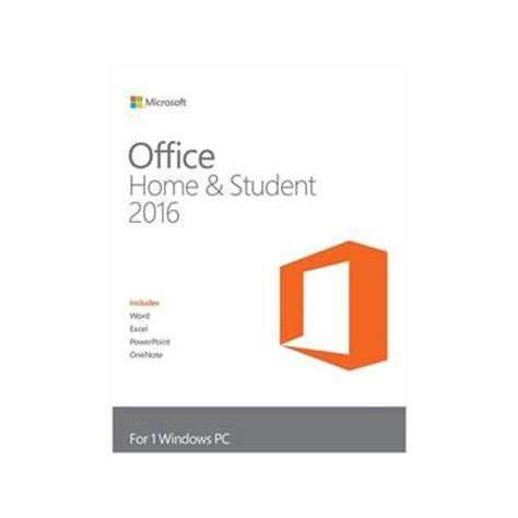 Office Home Student 2016 For Pc by Microsoft Office Home And Student 2016 Product Key Card