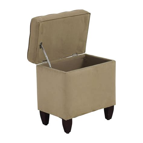 chair with storage ottoman 80 off beige tufted ottoman with storage chairs