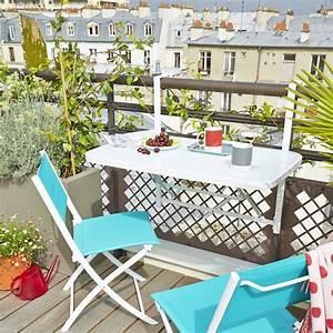 Table Basse Balcon : la table balcon accrocher en acier plateau en verre tremp adaptable sur rambarde ronde ou ~ Teatrodelosmanantiales.com Idées de Décoration