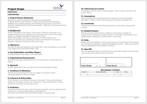 statement  work templates   sample templates
