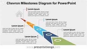 Chevron Milestones Diagram For Powerpoint