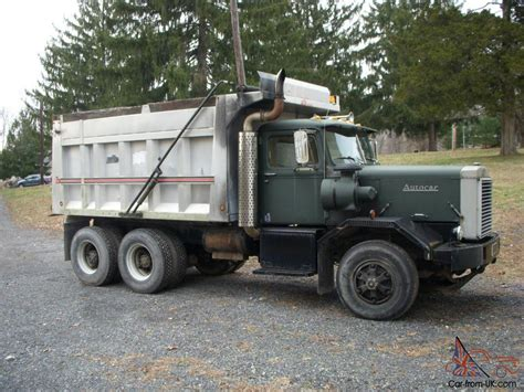 Car And Dump Truck by 972 Autocar Dump Truck