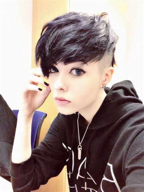 fringe with sidecut shorty short punk hair punk girl