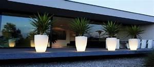 Pot Fleur Lumineux : pot lumineux led int rieur et jardin deco lumineuse ~ Nature-et-papiers.com Idées de Décoration