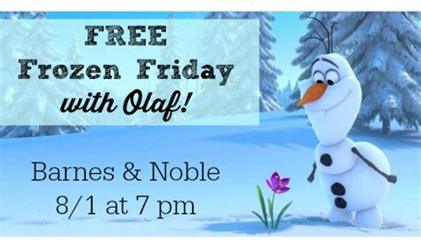 barnes and noble free friday barnes noble free frozen friday with olaf 8 1