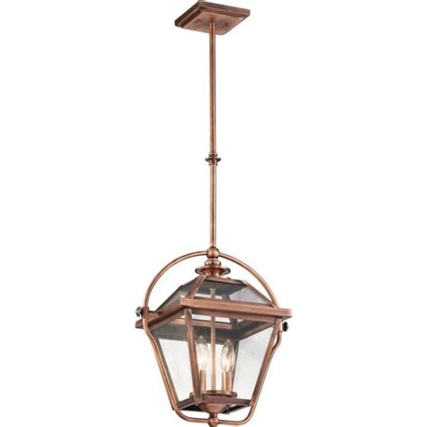traditional indoor hanging lantern in antique copper