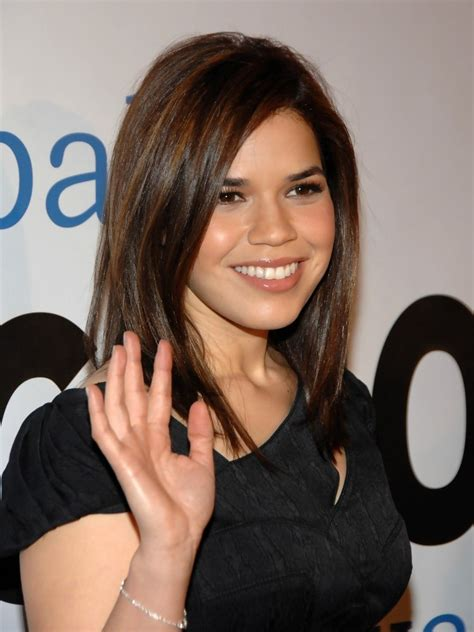 pics  america ferrera medium straight cut