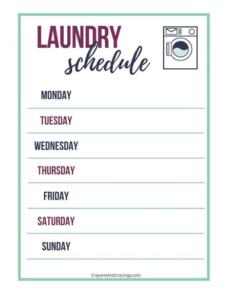 washer on top of dryer laundry routine tips and free laundry schedule printable